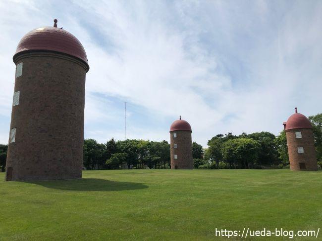 明治公園といえば赤レンガサイロが有名