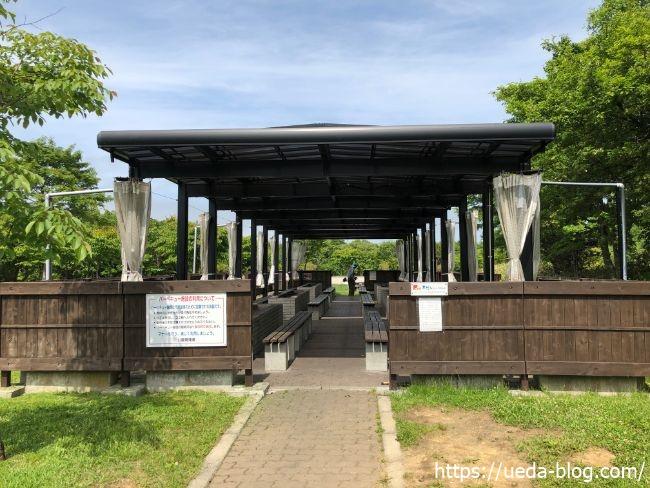 明治公園 広々としたバーベキュースペース