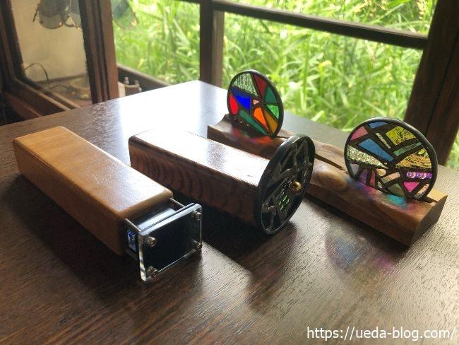 葦笛洞 ステンドグラスの置物