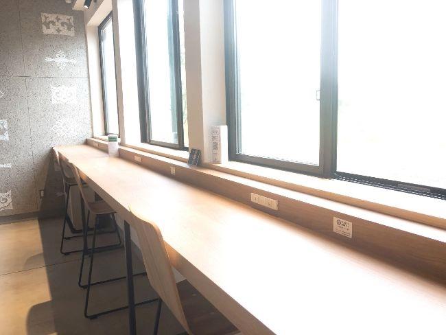 ポロトミンタラ テーブルにコンセント&Wi-Fi