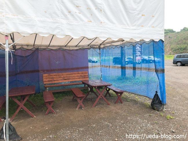 ウエムラ牧場 食事用テント