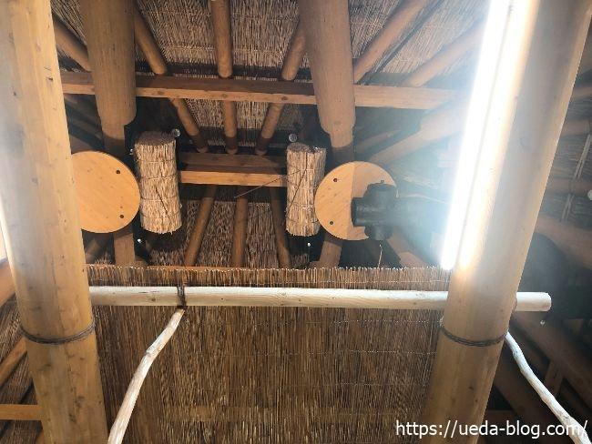チセ内部の天井