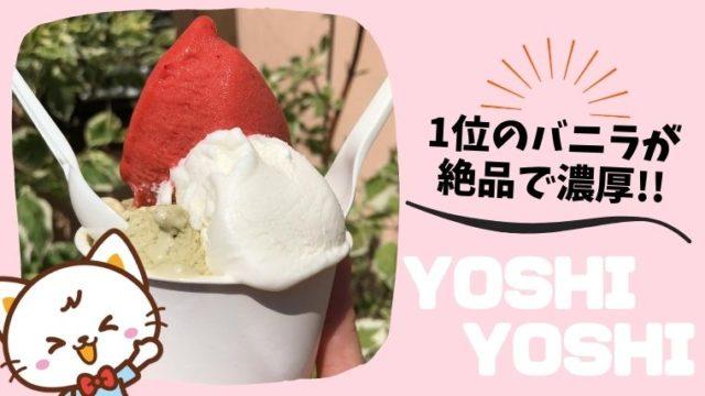YOSHIYOSHI ヨシヨシ アイス