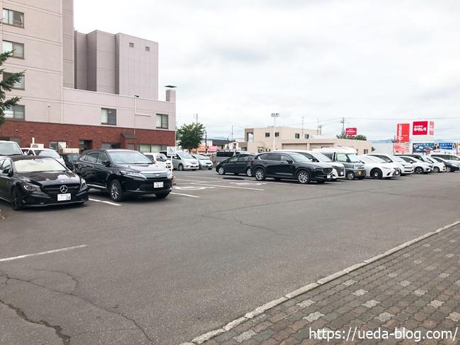 道の駅あさひかわ メイン駐車場