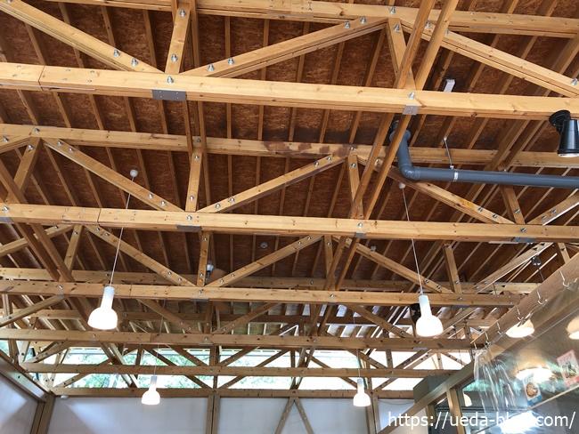 富良野チーズ工房 高い天井
