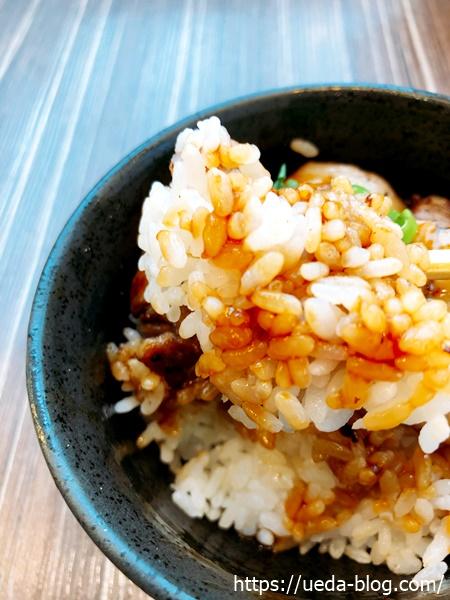 チャーシュー焼豚丼のご飯