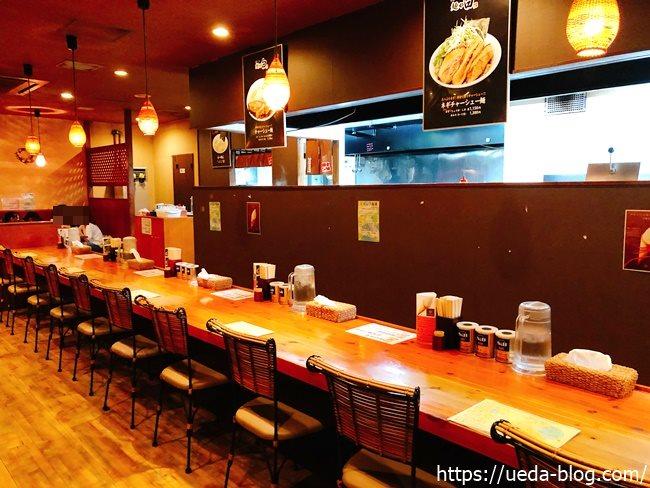 麺や白本店のカウンター席