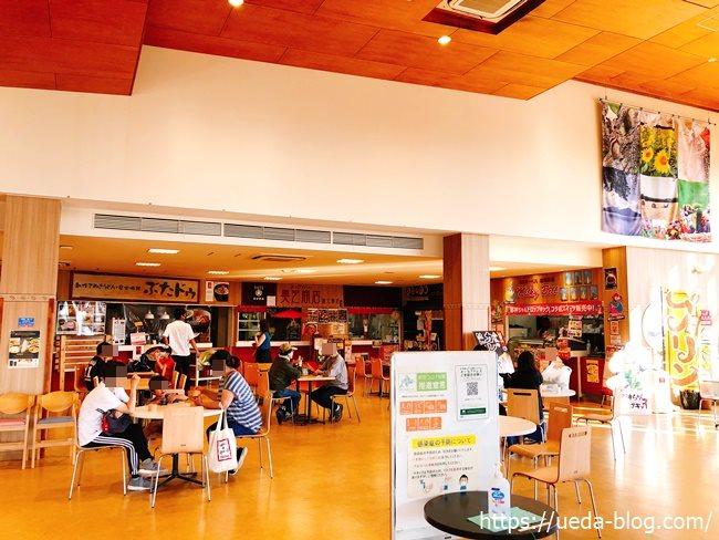 道の駅サーモンパーク千歳の食堂スペース