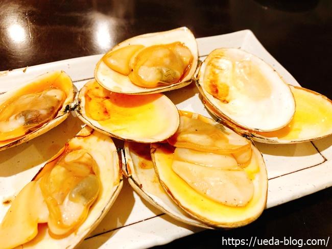 白貝の炭焼