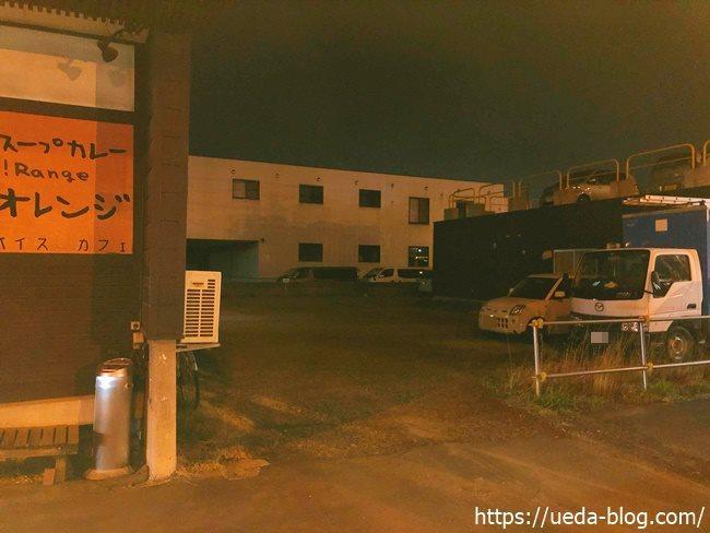かりき横丁の施設横にある駐車場