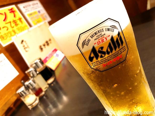 炭火焼肉ときん東雁来店の生ビール