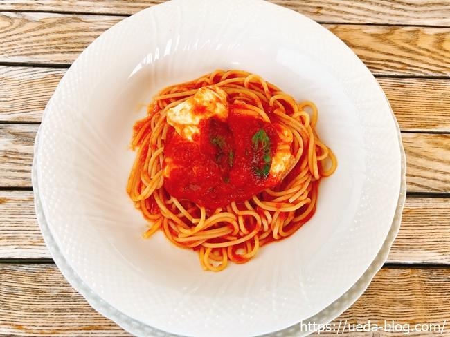 みるくのアトリエおすすめモッツァレラのトマトソーススパゲティ