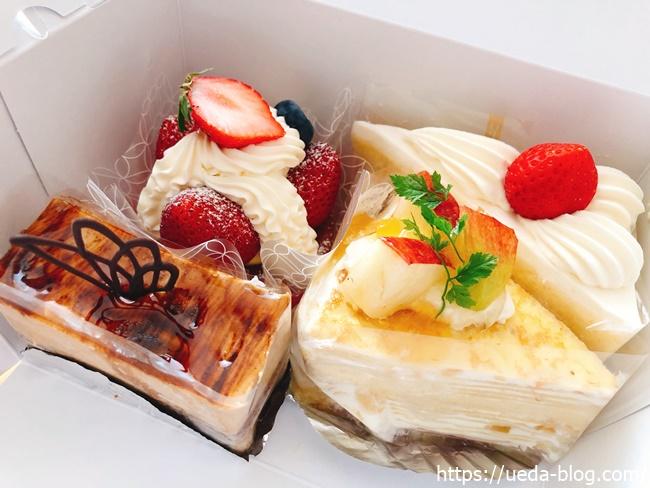 ケーキショップあかねで選んだ4つのケーキ