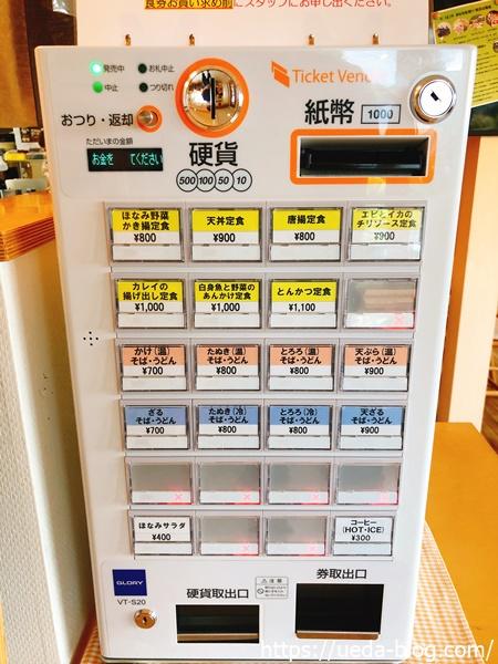 券売機で食券を購入するシステム