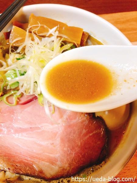 味噌らーめんのスープは4種の味噌をブレンド