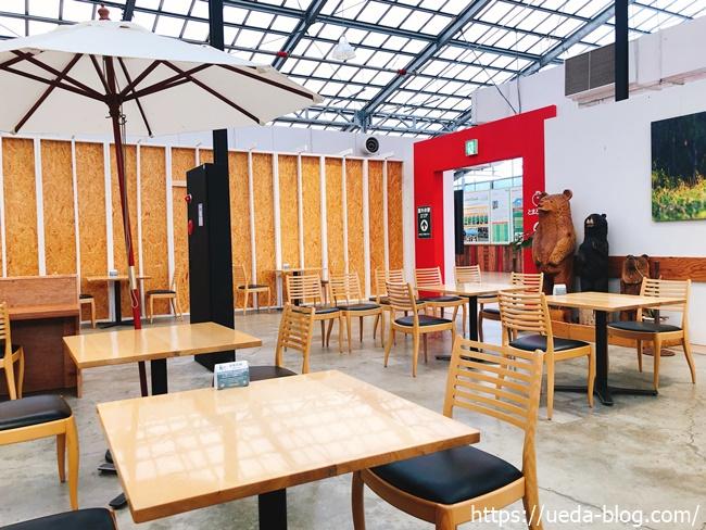 えこりん村ウェルカムセンターのカフェスペース