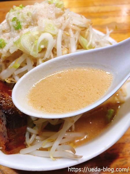 特製味噌スープは舌ざわりが柔らかめ